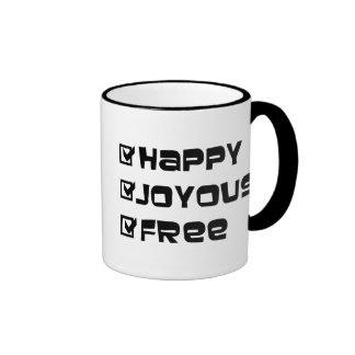 Happy Joyous Free Ringer Mug