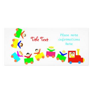 Happy Kids Train Rack Card Template