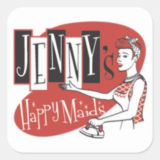 Happy Maids Square Sticker