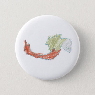 Happy Mermaid Doodle Button