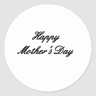 Happy Mother's Day Black The MUSEUM Zazzle Gifts Round Sticker