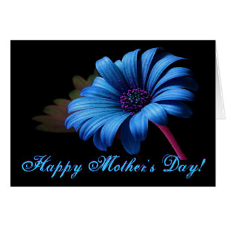 Happy Mother's Day Blue Daisy Greeting Card