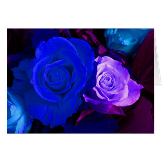 Happy Mother's Day Blue Purple Rose III Greeting Card