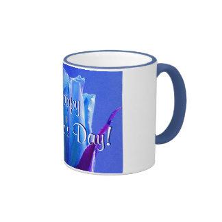 Happy Mother's Day Blue Rose II Ringer Mug