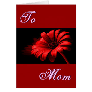 Happy Mother's Day Bright Red Daisy I Cards
