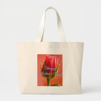 Happy Mother's Day Pink Rose I Bags