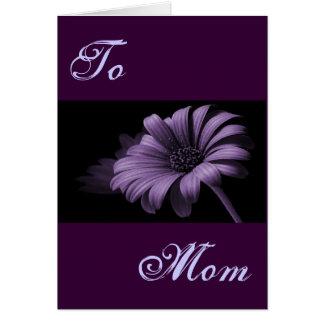 Happy Mother's Day Purple Grey Daisy III Greeting Card