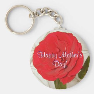 Happy Mother's Day Red Rose Keychains