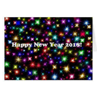 Happy New Year 2018 fireworks new year card
