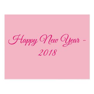 Happy new year 2018 postcard