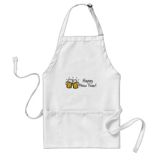 Happy New Year Beer Adult Apron