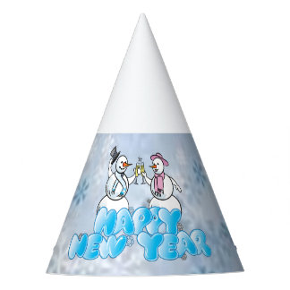Happy New Year Snowman Party Hat