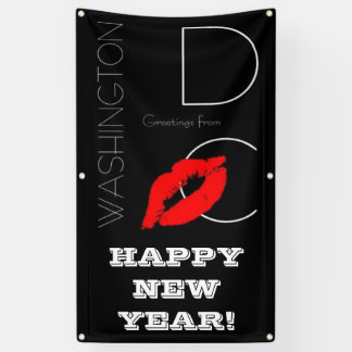 Happy New Year! Washington DC Red Lipstick Kiss