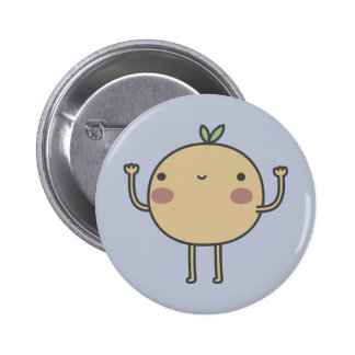 Happy Orange 6 Cm Round Badge