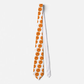 Happy orange smiley face tie