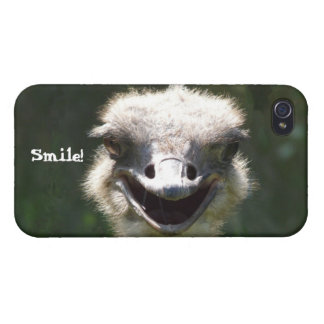 Happy Ostrich- Smile! Case For The iPhone 4