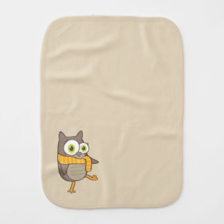 Happy Owl Burp Cloths