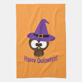 Happy Owloween Tea Towel