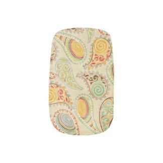 Happy Paisley Minx Nail Art