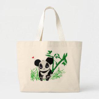 Happy Panda Bamboo Large Tote Bag