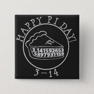 Happy Pi day chalkboard pie square button
