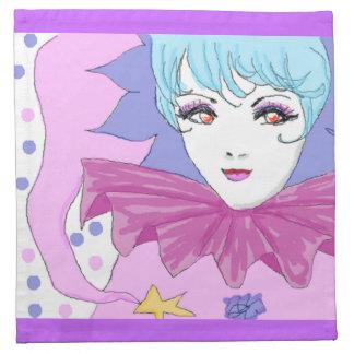 Happy Pink Joker Printed Napkin