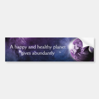 Happy Planet Bumper Sticker