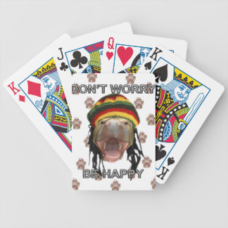 Happy Puppy Bicycle Playing Cards