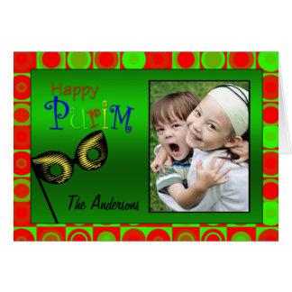 Happy Purim Bright Circles Card
