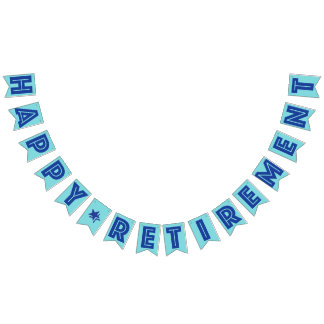 HAPPY RETIREMENT BANNER, Blue Color Bunting