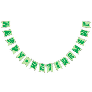 HAPPY RETIREMENT BANNER, Green Color Bunting