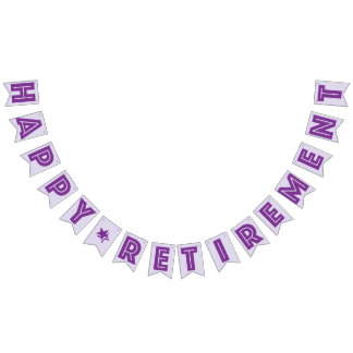 HAPPY RETIREMENT BANNER, Purple Color Bunting