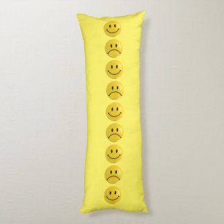 Happy Sad Smiley Bi Polar Body Pillow