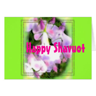 HAPPY SHAVUOT Hebrew lilac flowers Card