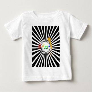 Happy Singing Music Karaoke Sweet Black White Baby T-Shirt
