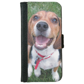 Happy Smiley Face Beagle iPhone 6 Wallet Case