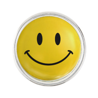 Happy Smiley Lapel Pin