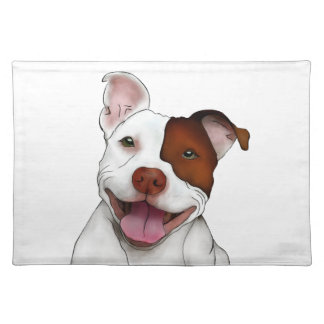 Happy Smiling Pitbull Placemat