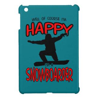 Happy SNOWBOARDER (Black) iPad Mini Case