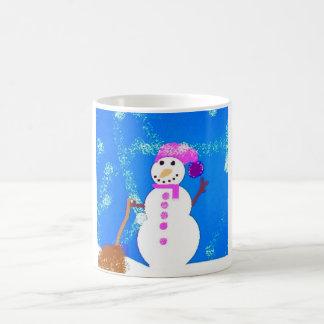 Happy Snowman Basic White Mug