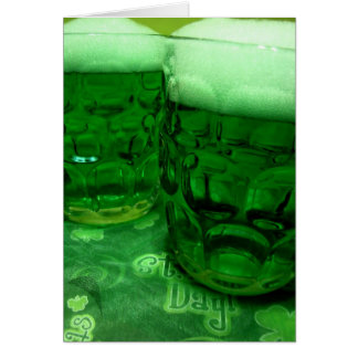 Happy St. Patrick's Day Beer Greeting Card