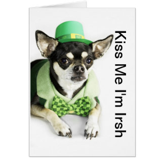 Happy St. Patrick's Day Chihuahua Greeting Card