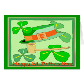 Happy St Patrick's Day Collage Greeting Card