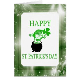 Happy St. Patrick's Day Irish Leprechaun Card