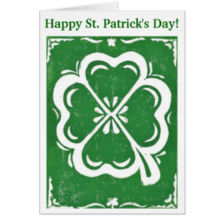 Happy St. Patrick's Day Lucky Clover Card