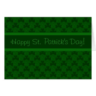 Happy St. Patrick's Day Note Card