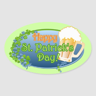 Happy St Patricks Day! (Ver 1) Oval Sticker