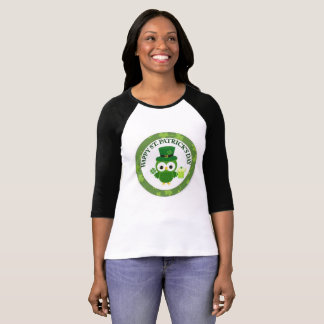 Happy St. Patricks Day with Owl and Beer T-Shirt