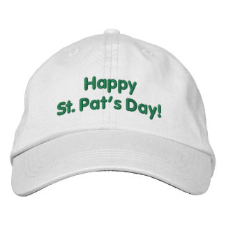 Happy St. Pat's Day Irish Green Embroidered Hat