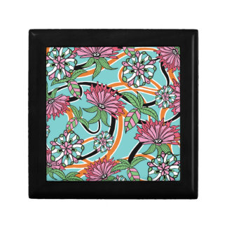 happy summer floral pattern gift box